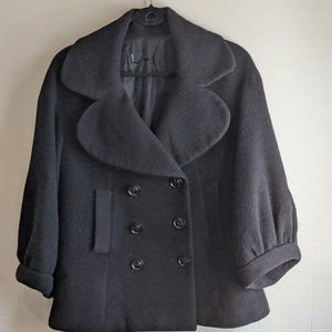 Wool and cashmere blend peacoat jacket